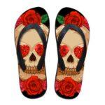 Flower Skull Flip Flop