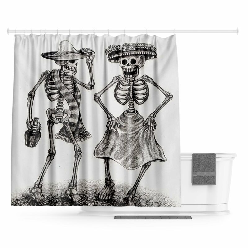 Skeleton Shower Curtain