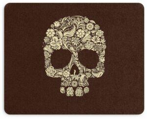 Flowered Skull Mouse Pad