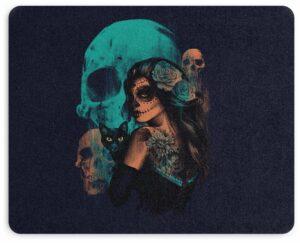 Catrina Mexican Skull Mouse Pad