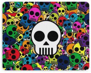 Cartoon Skull Mouse Pad