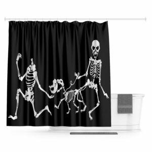 Skeleton Skull Shower Curtain