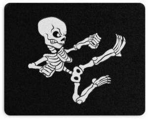 Skeleton Skull Mouse Pad