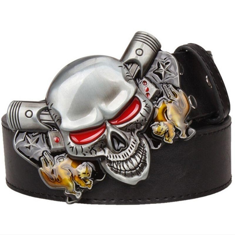 Biker skull belt
