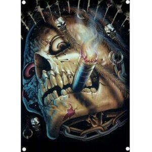 Zombie skull flag