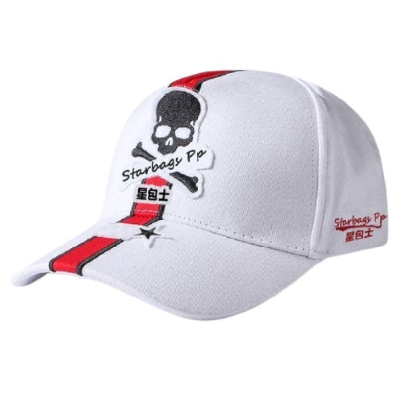 white pirate skull cap