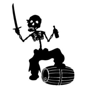 Black Pirate Sticker