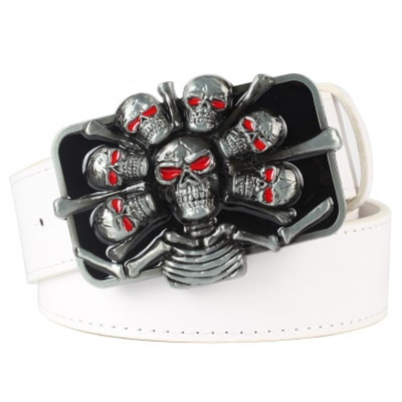 punk skull belt