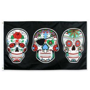 Calavera Mexican Skull Flag