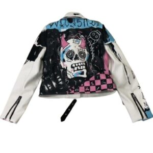 Leather Jacket Skull Woman