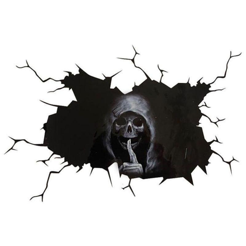 Black and white reaper sticker