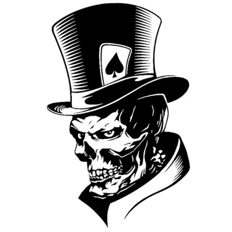 Skeleton Art Sticker