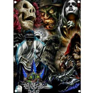 Skull Art Flag