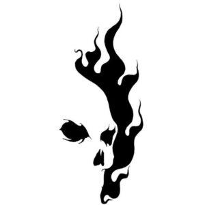 Sticker Skull Flame