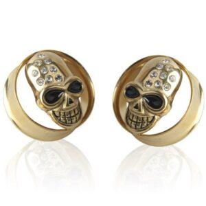 Gold Skull Piercing