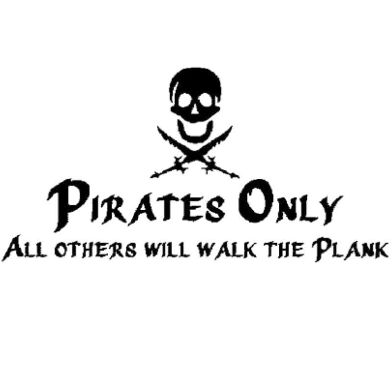Pirate Only Sticker