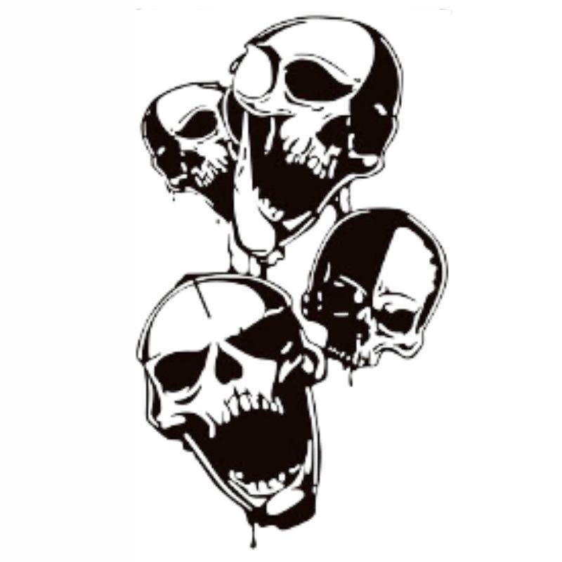 Black Skull Sticker