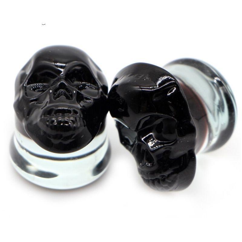 Black skull piercing