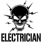Electrician Skull Sticker