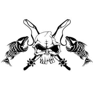 Sticker Skeleton Fish