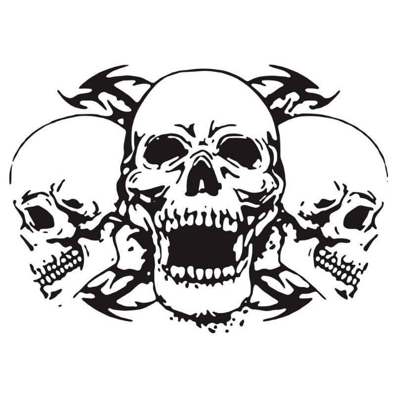 Skull Sticker Biker
