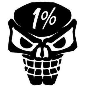 1% sticker