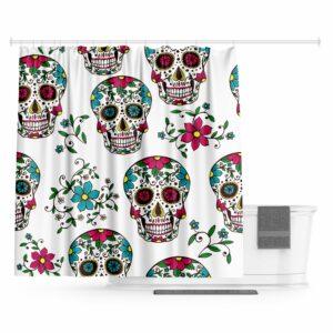 Mexican Skull Curtain Calevara