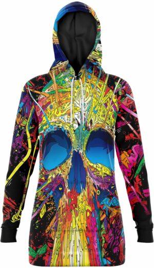 Multicolored Skull Sweater Dress