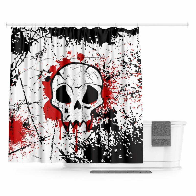 Skull Curtain Design