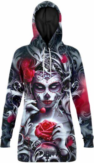Santa Muerte Sweater Dress
