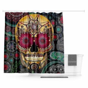 Mexican Skull Curtain