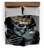 Death's Head Crown Throw