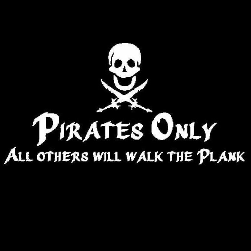 Sticker Pirate Only