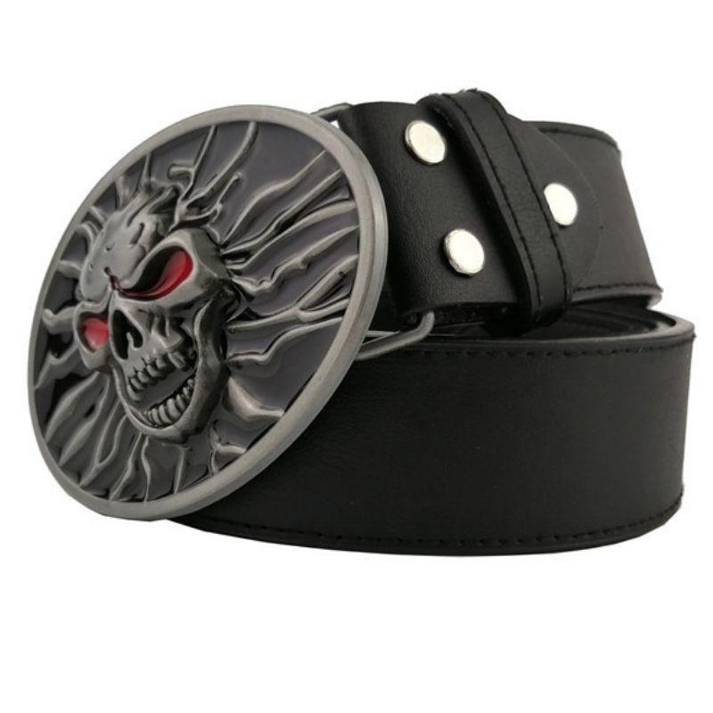 skull belt for men