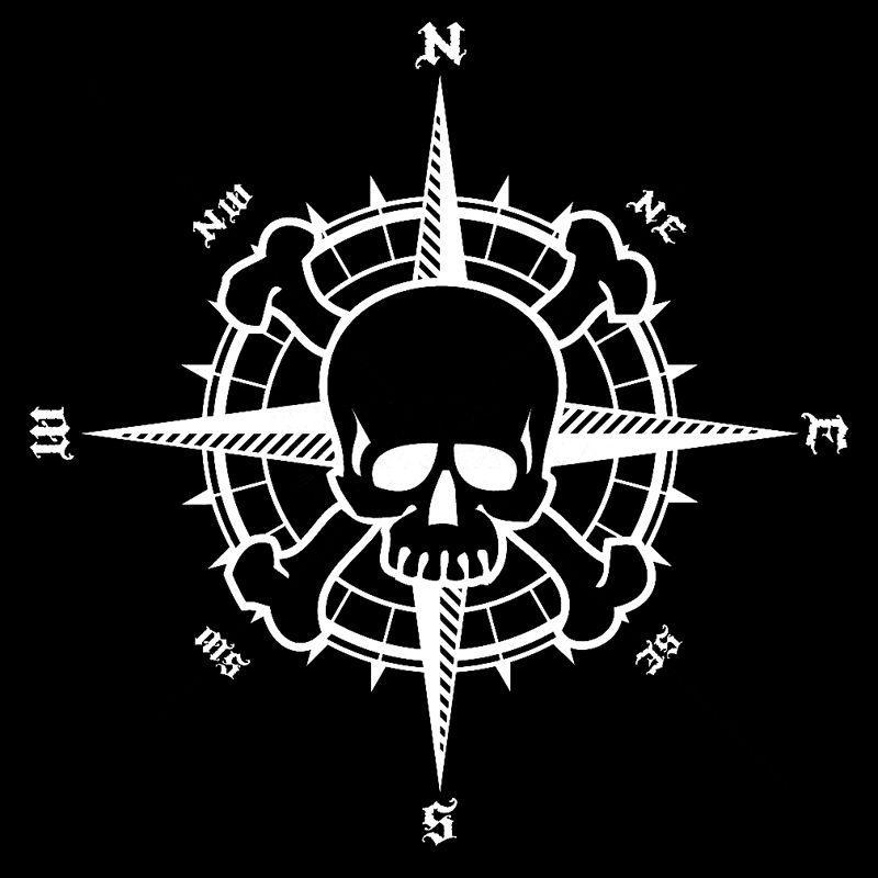 stickers skull and crossbones