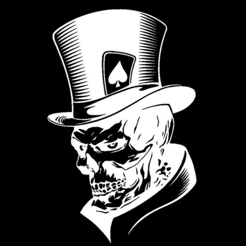 Zombie Boy Skull Sticker