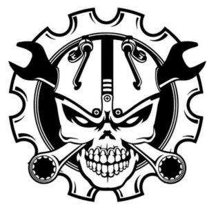 Motorcycle Skull Sticker
