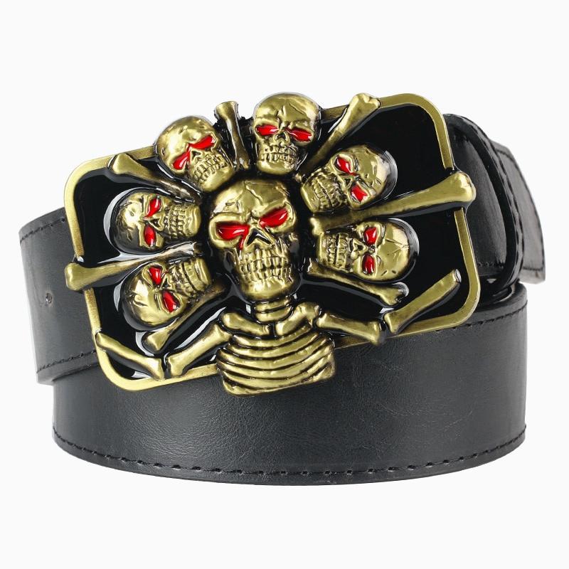 cheap skull punk belt