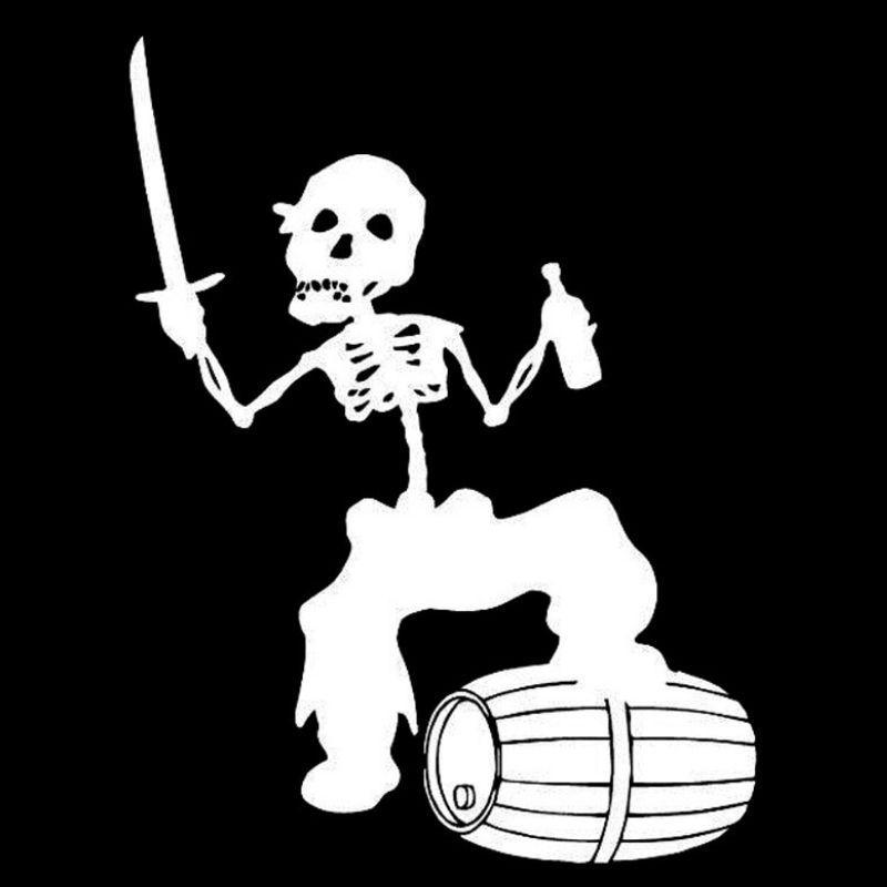 Cheap pirate skull stickers