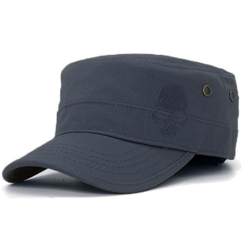 Military skull cap with embroidery