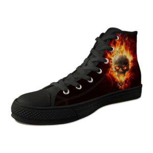 Shoes Flaming Skull