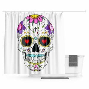Calavera Skull Curtain