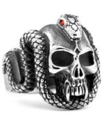 Serpent Strass Ring