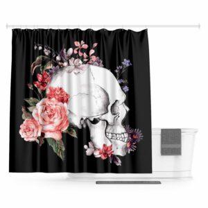 Romantic Skull Curtain
