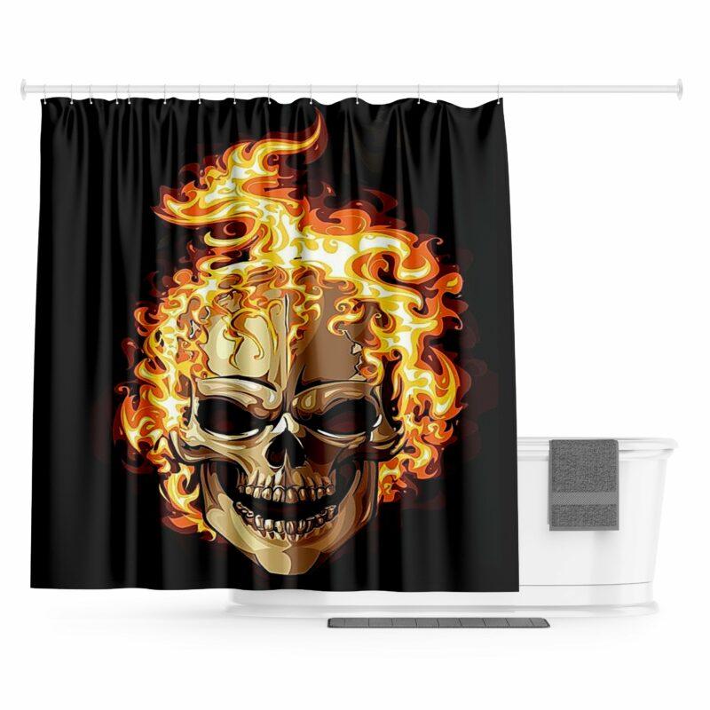 Fire Skull Curtain
