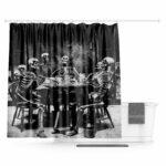 Skeleton Curtain Life