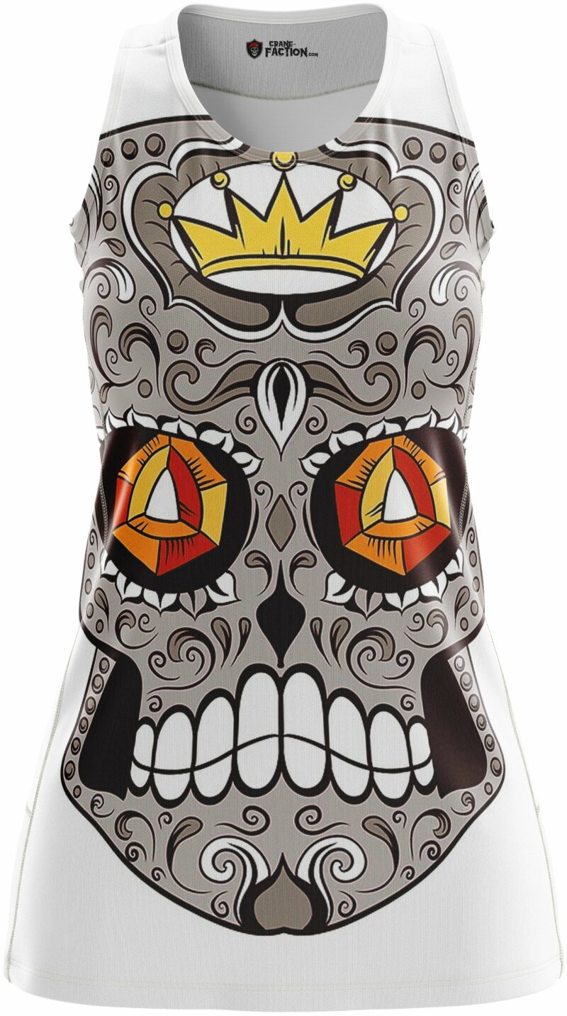 Black And White Mexican Skull Dress