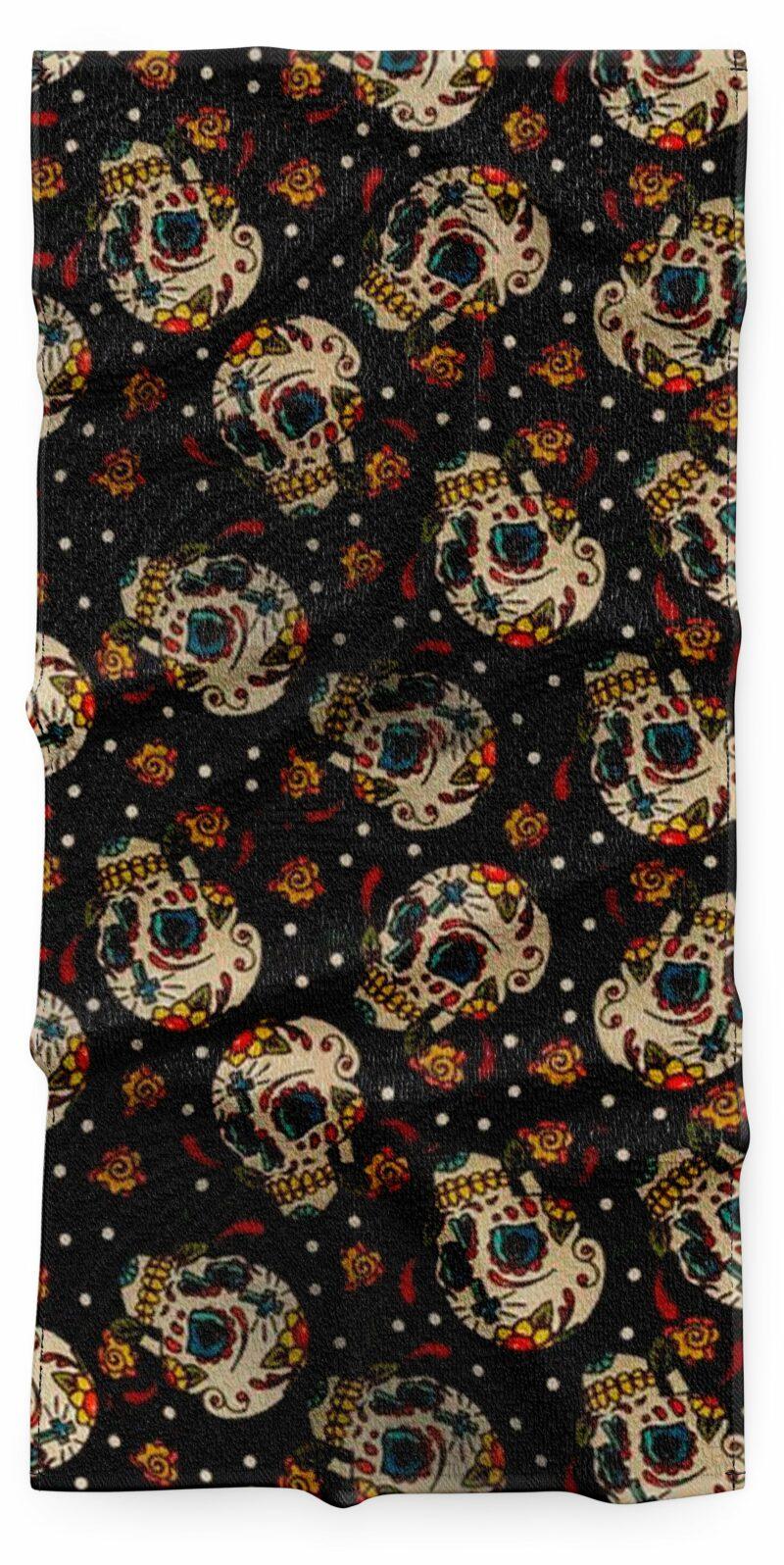Realistic Mexican Skull Towel