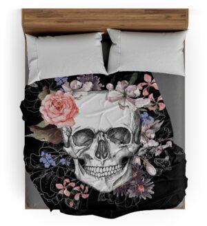 Flowery Skull Throw