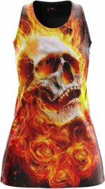 Flaming Skull Dress